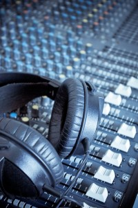 Headphones on Mixing Board